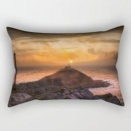 Sunrise at Mumbles lighthouse Rectangular Pillow