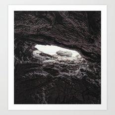 Shallow Cave Art Print