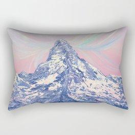 Matterhorn. Winter sunset Rectangular Pillow