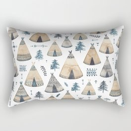 Tepees! Rectangular Pillow