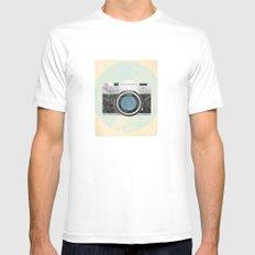 Vintage Camera Mens Fitted Tee MEDIUM White