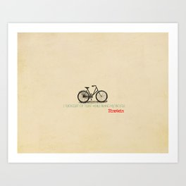 I Thought Of That While Riding My Bicycle Einstein Art Print