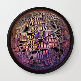 Atlante 10-06-16 / RETICULAR SURFACE Wall Clock