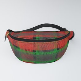 Red, green tartan plaid. Fanny Pack