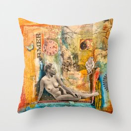 Remembering Much, But Not Getting Stuck in the Past  Throw Pillow