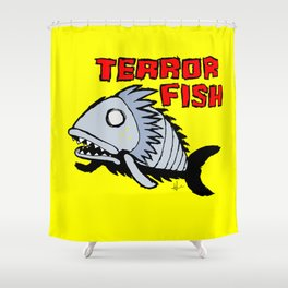 Terror fish Shower Curtain