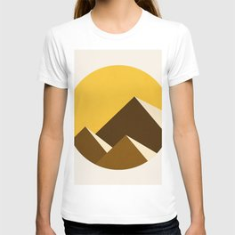 Abstraction_Mountains_YELLOW_001 T-shirt