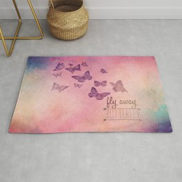 Fly Away Butterfly Rug