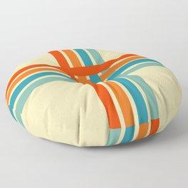 Retro Cross Stripes 02 Floor Pillow
