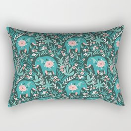 Blue elephants Rectangular Pillow