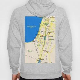 Israel Map design Hoody