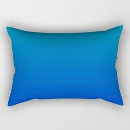 Ombre Hawaiian Ocean Blue Zaffre Gradient Motif Rectangular Pillow