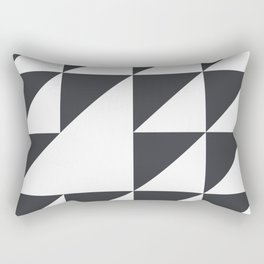 Black & White Geometry Rectangular Pillow