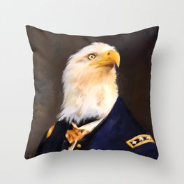 Chic Eagle General Throw Pillow