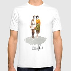 Invisible | Collage White MEDIUM Mens Fitted Tee