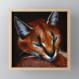 Karakul wildcat Framed Mini Art Print
