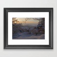 Winter sunset in the Black Forest Framed Art Print