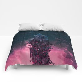The Technocore / 3D render of futuristic structure Comforters