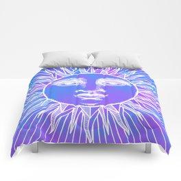 Sun vintage blue Comforters