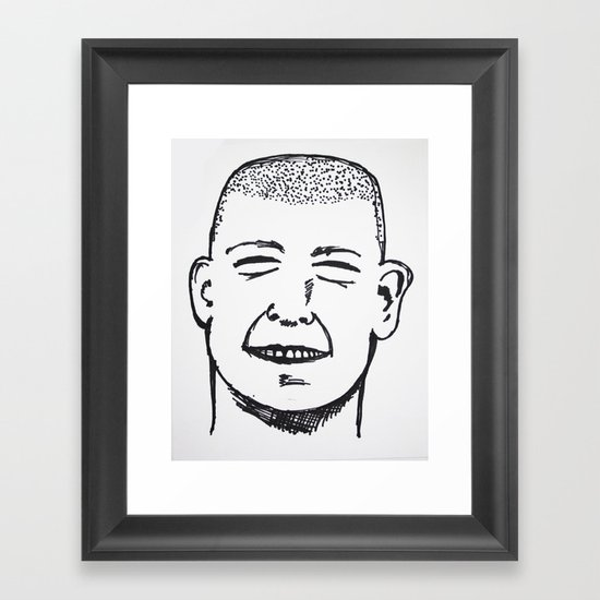 Gut Busting Framed Art Print
