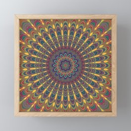 Bohemian oval mandala Framed Mini Art Print