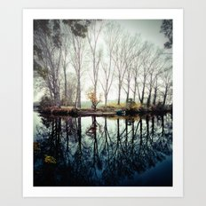 A bend in the river Art Print