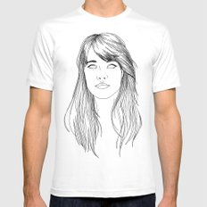GOTTA LOVE FRANÇOISE HARDY  Mens Fitted Tee MEDIUM White
