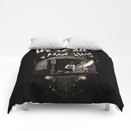 We're All Mad Here (Steampunk) Comforters