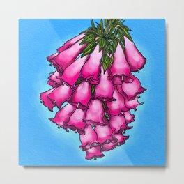 Pretty in Pink Bell Flowers Metal Print