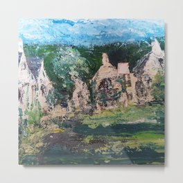 Cotswold Cottages by Lynn Ede Metal Print