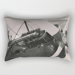 Vintage Aircraft engine. Rectangular Pillow