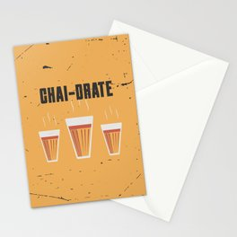 Funny Chai-Drate Hydrate Quote Stationery Cards