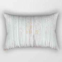 White tree forest Rectangular Pillow
