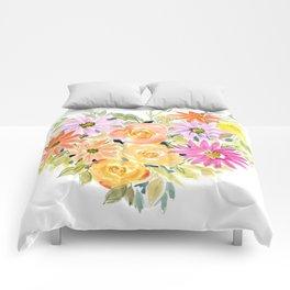 Floral Heart 1 Comforters