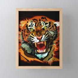 Tiger Roar Framed Mini Art Print