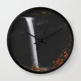 Moonlight Silver Wall Clock