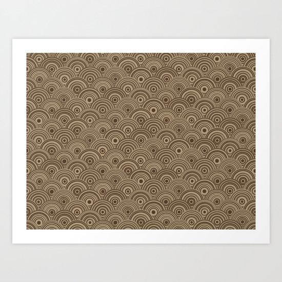 Orbis (Brown) Art Print