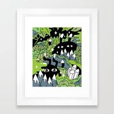 Little Lurkers Framed Art Print