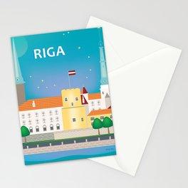 Riga, Latvia - Skyline Illustration by Loose Petals Stationery Cards