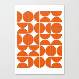 Mid Century Modern Geometric 04 Orange Canvas Print