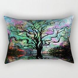 Van Goghs Aurora Borealis Reflection Rectangular Pillow
