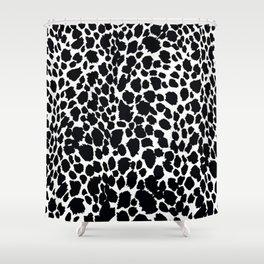 Animal Print Cheetah Black and White Pattern #4 Shower Curtain