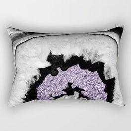 Gray Black White Agate with Ultra Violet Glitter #2 #gem #decor #art #society6 Rectangular Pillow
