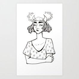 Little Hearts Demon Art Print