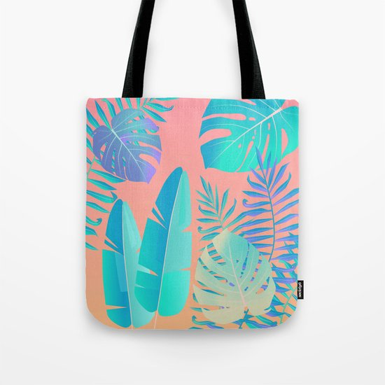 Tropics ( monstera and banana leaf pattern ) Tote Bag