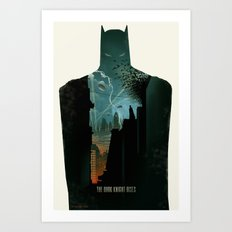 The Dark Knight Rises Art Print