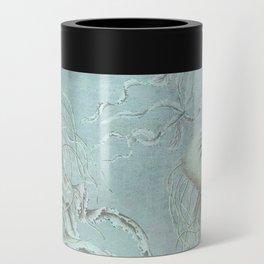 Jellyfish Underwater Aqua Turquoise Art Can Cooler