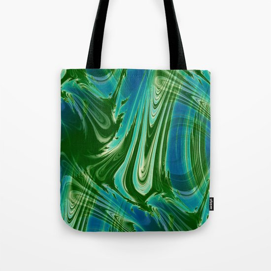 Tropical Colors Abstract Tote Bag