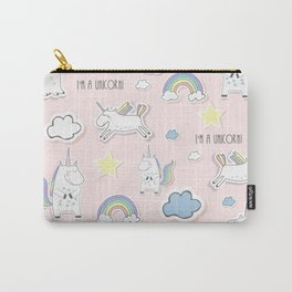 I'm a Unicorn - light pink Carry-All Pouch