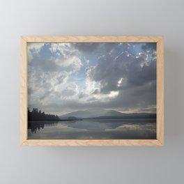 Misty Morning On Long Lake Framed Mini Art Print